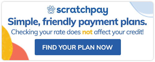 Image: Scratchpay - Simple, friendly payment plans. Checking your rate does not affect your credit. Click to find your plan now.